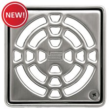 New! Schluter Kerdi-Drain 4in. Grate Stainless Steel Floral