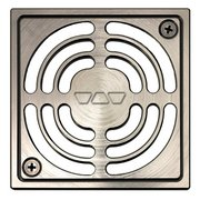 Schluter Kerdi-Drain 4in. Grate Brushed Nickel