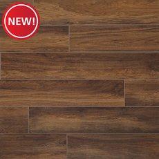 New! Santiago Marron Wood Plank Ceramic Tile