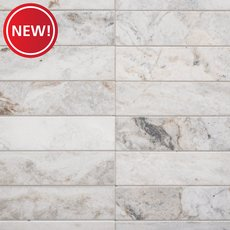 New! Bianco Orion Loft Polished Marble Mosaic
