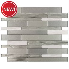 New! Metro Linear Glass Peel and Stick Mosaic