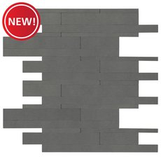 New! Industrial Groove Linear Metal Peel and Stick Mosaic