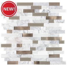 New! Uptown Bronze Linear Metal Peel and Stick Mosaic