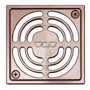 Schluter Kerdi-Drain 4in. Grate Brushed Copper