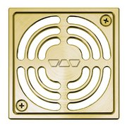 Schluter Kerdi-Drain 4in. Brushed Brass