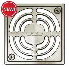 New! Schluter Kerdi-Drain 4in. Grate Brushed Nickel