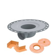 Schluter Kerdi-Drain with Horizontal Outlet 2 PVC with Corners and Seals