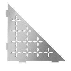 Schluter Shelf Triangular Corner Floral Brush Stainless Steel