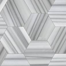 Skyfall Empire Hexagon Polished Marble Tile