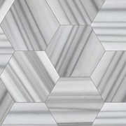 Skyfall Empire Hexagon Polished Marble Tile