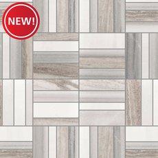 New! Metro Skyline Polished Marble Mosaic