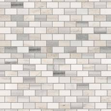 Skyline Blend Mini Brick Polished Marble Mosaic