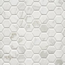 Marble Art 1.5 in. Hexagon Ceramic Mosaic