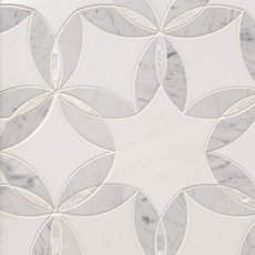 Dahlia Thassos Mother of Pearl Waterjet Mosaic