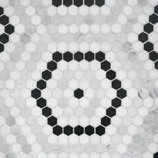 Cafe Du Monet Hexagon Polished Marble Mosaic