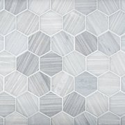 Athena 2 in. Hexagon Polished Marble Mosaic