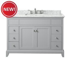 New! Aurora 49 in. Vanity with Carrara Marble Top
