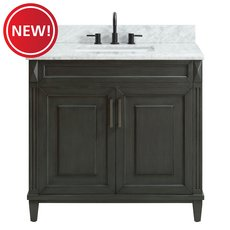 New! Sterling 37 in. Vanity with Carrara Marble Top
