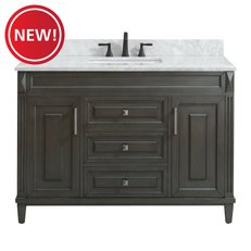 New! Sterling 49 in. Vanity with Carrara Marble Top