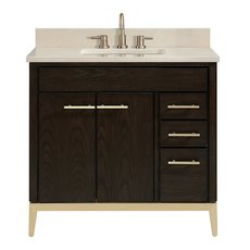 Hepburn 37 in. Vanity with Crema Marfil Marble Top