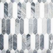 Dove Gray Picket Polished Marble Mosaic