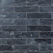 Caviar Black Polished Marble Tile