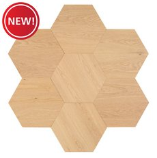 New! Midtown Light Oak Wire-Brushed Hexagon Engineered Hardwood