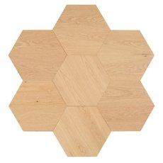 Midtown Light Oak Wire-Brushed Hexagon Engineered Hardwood