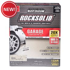 New! Rust-Oleum Rocksolid Mocha 1 Car Garage Floor Coating Kit