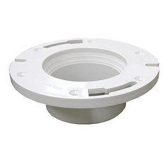 Jones Stephens 3in. x 4in. Plumbfit PVC Closet Flange With Knockout