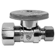 Jones Stephens 5/8in. x 3/8in. Chrome Plated Quarter Turn Straight Stop