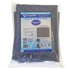 Compotite 6x8 Pre-Cut Shower Pan Kit