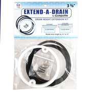 Compotite Extend-A-Drain 3-3/8 Drain Height Extension Kit