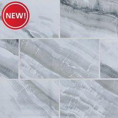 New! Onyx Frost Polished Ceramic Tile