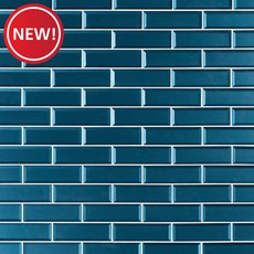 New! Parisian Blue Glass Tile