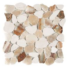 Monteverde Onyx Honed Pebble Mosaic