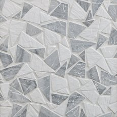 Avant Gray Tumbled Pebble Mosaic