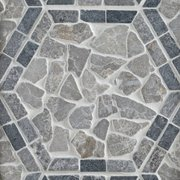 Lanai Hexagon Tumbled Pebble Mosaic