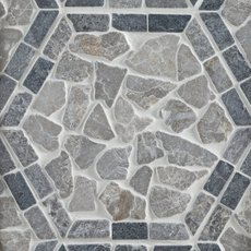 Lanai Hexagon Tumbled Pebble Mosaic