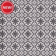 New! Equilibrio Black IV Encaustic Cement Tile