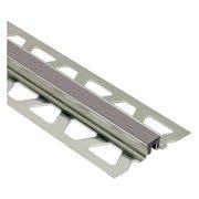 Schluter Dilex-Ksn 5/8in. Stainless Steel w/ 7/16in. Joint Dark Anthracite