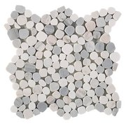 Dolomite Palissandro Honed Pebble Mosaic