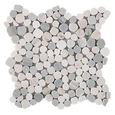 Dolomite Palissandro Honed Pebble Mosaic