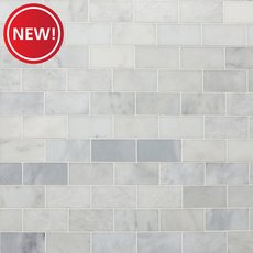 New! Chateau Honed Carrara Marble Tile