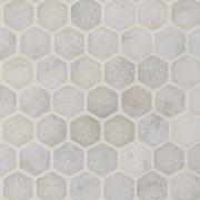 Chateau Tumbled 2 in. Hexagon Carrara Marble Mosaic