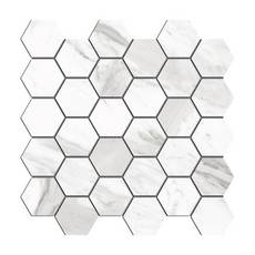 Cesari III Polished Hexagon Porcelain Mosaic