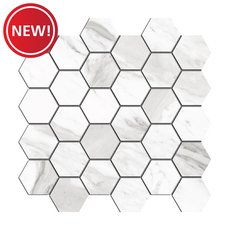New! Cesari III Polished Hexagon Porcelain Mosaic