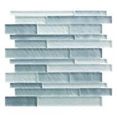 Cielo Mist Linear Glass Mosaic