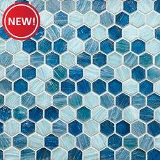 New! Capri 1 in. Hexagon Glass Mosaic