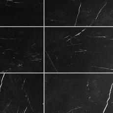 Black Marble Rigid Core Luxury Vinyl Tile - Cork Back